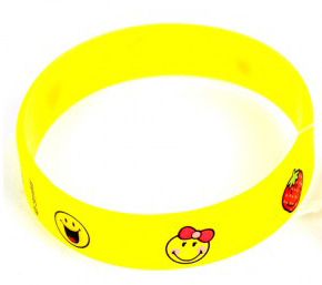 Armband Silikon Smiley