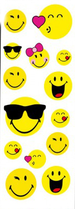 Sticker Smiley 14 Teile -SONDERPREIS-